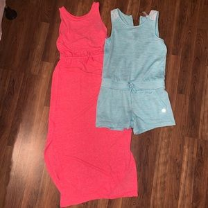 Other - Girls Maxi Dress Neon + Romper Size Youth Medium